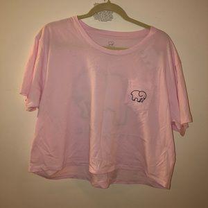 NWT Ivory Ella Pink Cropped Tee XL